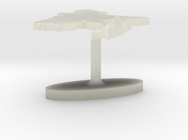 Bangladesh Terrain Cufflink - Flat 3d printed