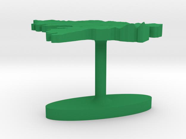 Guinea-Bissau Terrain Cufflink - Flat 3d printed