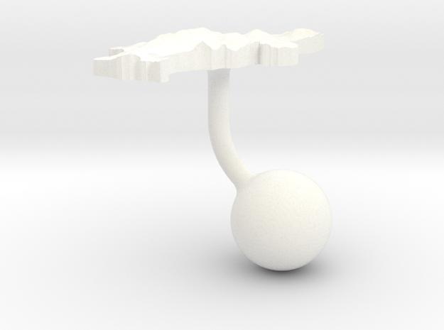 Denmark Terrain Cufflink - Ball 3d printed