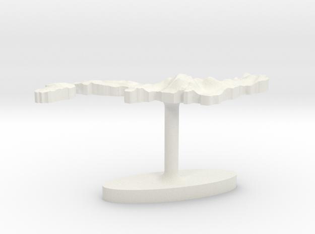 Japan Terrain Cufflink - Plate 3d printed