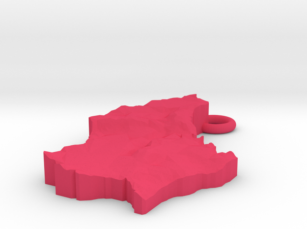Luxembourg Earring 3d printed