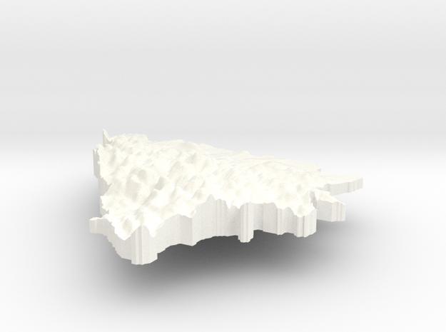 Bosnia and Herzegovina Terrain Silver Pendant 3d printed