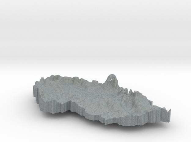 Czech Republic Terrain Silver Pendant 3d printed