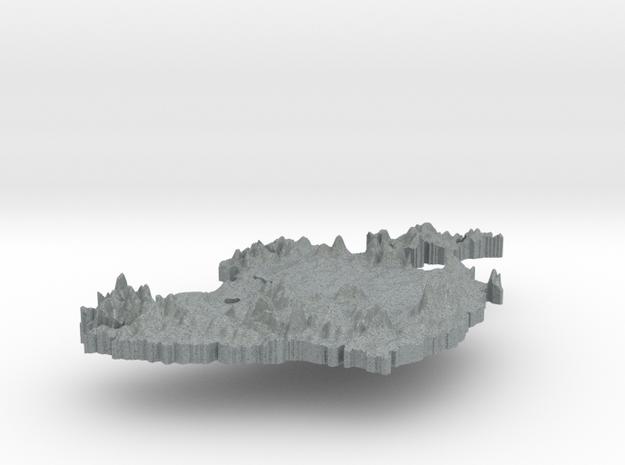 Ireland Terrain Silver Pendant 3d printed