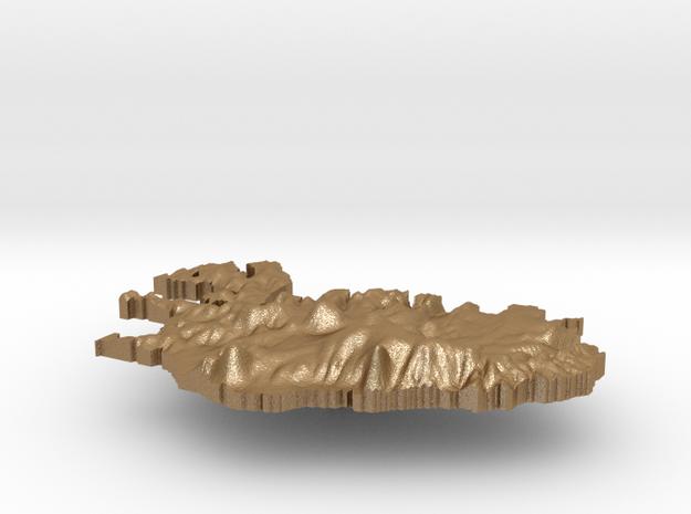 Iceland Terrain Silver Pendant 3d printed