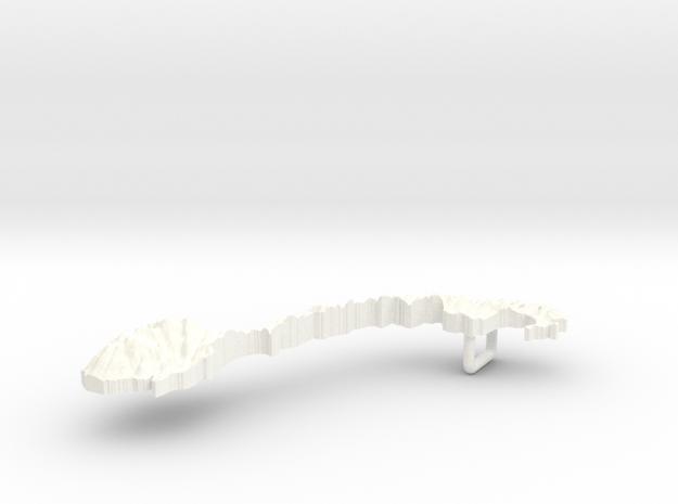 Norway Terrain Silver Pendant 3d printed