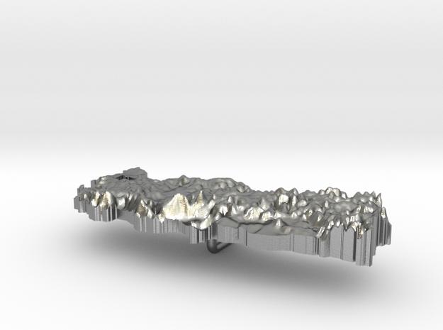 Turkey Terrain Silver Pendant in Raw Silver
