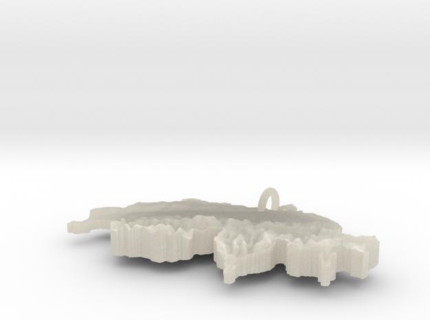 Switzerland Terrain Silver Pendant 3d printed