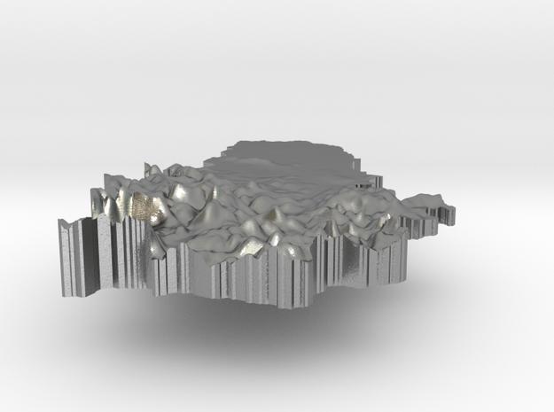 Serbia Terrain Silver Pendant in Raw Silver