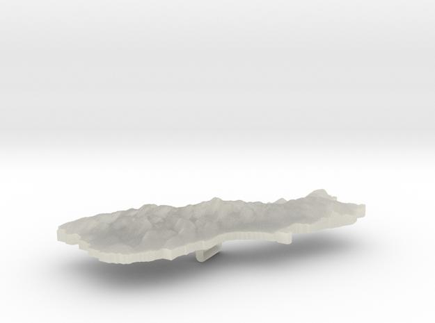 New Zealand Terrain Silver Pendant 3d printed