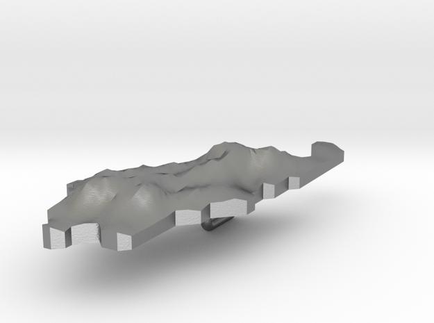 Palau Terrain Silver Pendant in Raw Silver