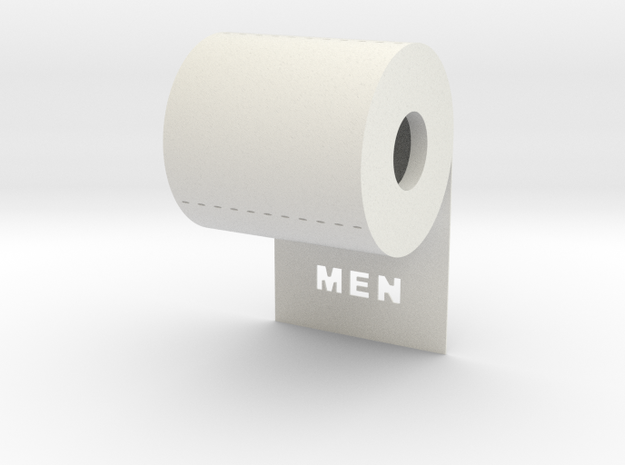 DRAW contest - sign MEN unrolls in back 3d printed