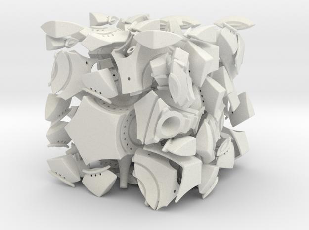 Bubblism512  in White Natural Versatile Plastic