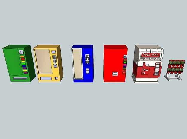 15mm Vending Machines in Smooth Fine Detail Plastic