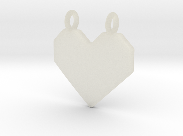 Origami Heart Pendant in Transparent Acrylic