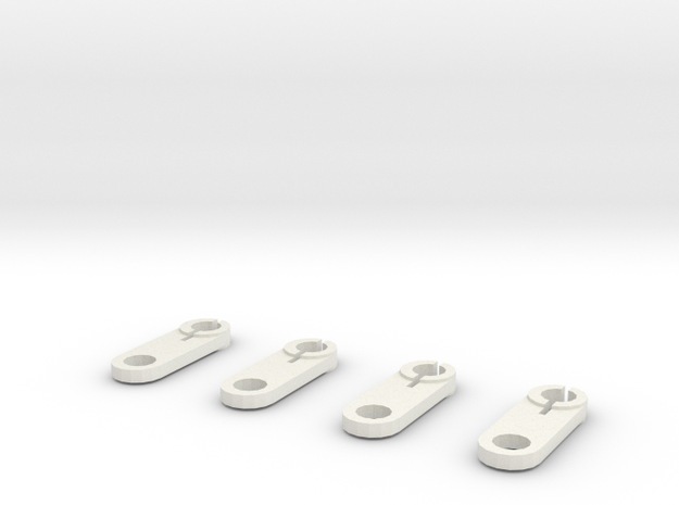 Thomas train linkages (set of 4) in White Natural Versatile Plastic