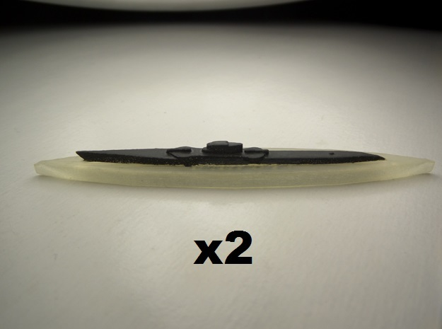 USS Nautilus & Narwhal 1:1800 3d printed Comes unpainted. One of each submarine.