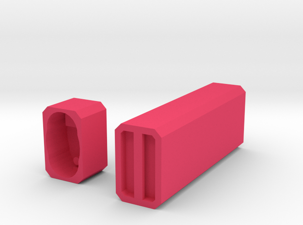 Engraveable Bic Case in Pink Strong & Flexible Polished
