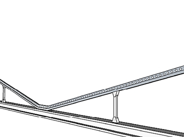 """Catenary Pole Full Dimensions 4 inch centers 3d printed """"K"""" brace detail"""