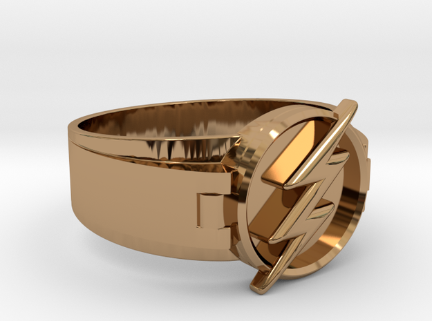 Flash Ring Size 15 23.83mm in Polished Brass
