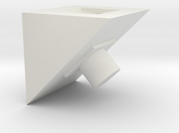 45 Deg Block in White Natural Versatile Plastic