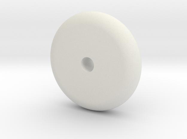 Wheel Block in White Natural Versatile Plastic