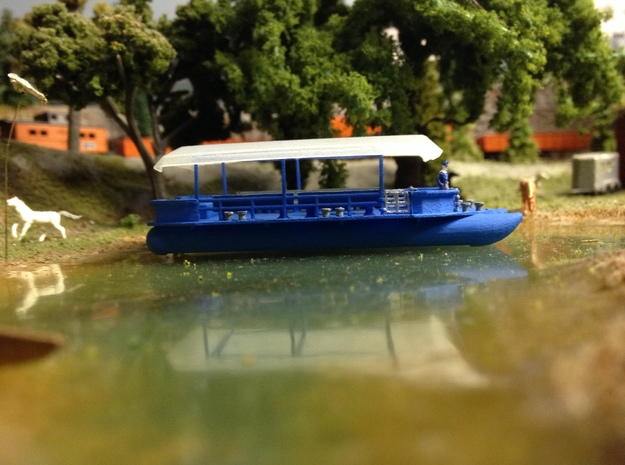 46 Ft Pleasure Boat Z Scale in Smooth Fine Detail Plastic