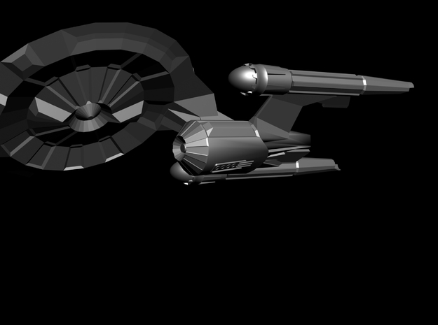 Parker Class Starship (enlarged) 3d printed