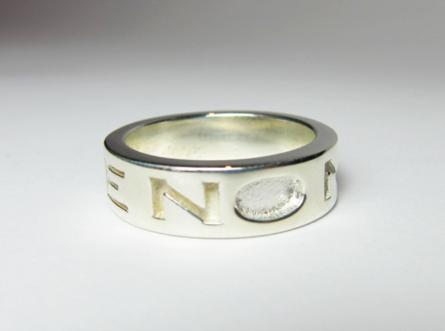 Disagree Ring in Polished Silver