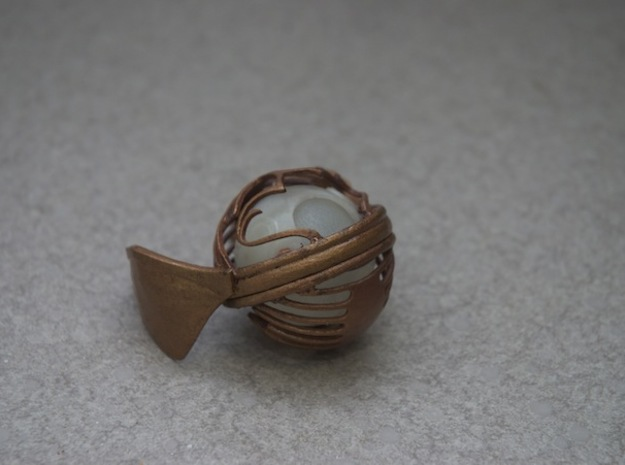 Golden Snitch (top) in White Natural Versatile Plastic