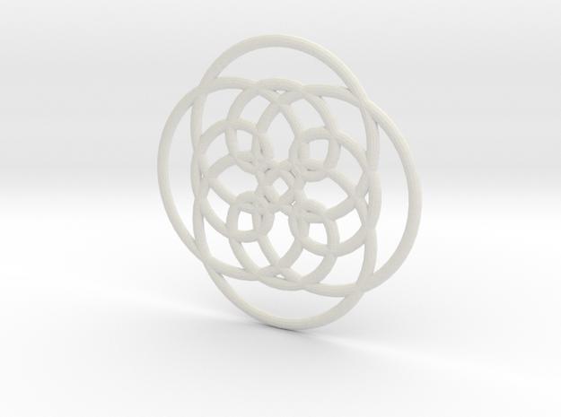 Spirograph04 in White Natural Versatile Plastic