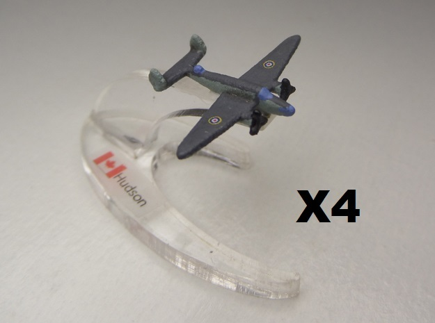 Lockheed Hudson x4 1:900 3d printed Comes unpainted without stands