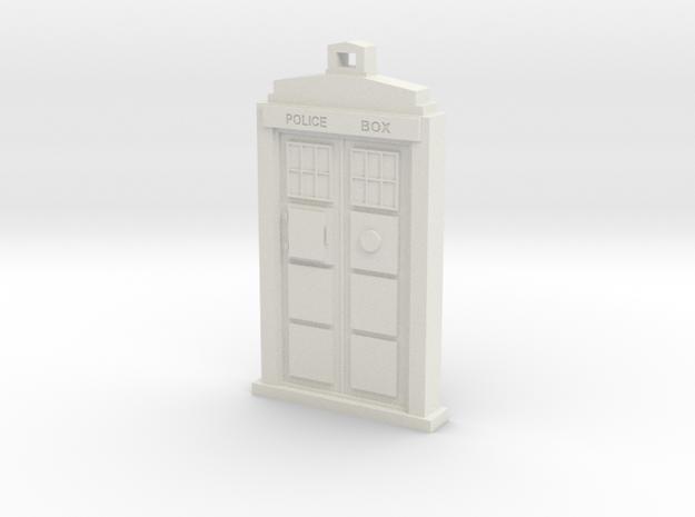 "Pendant Tardis 2"", Dr. Who 3d printed"