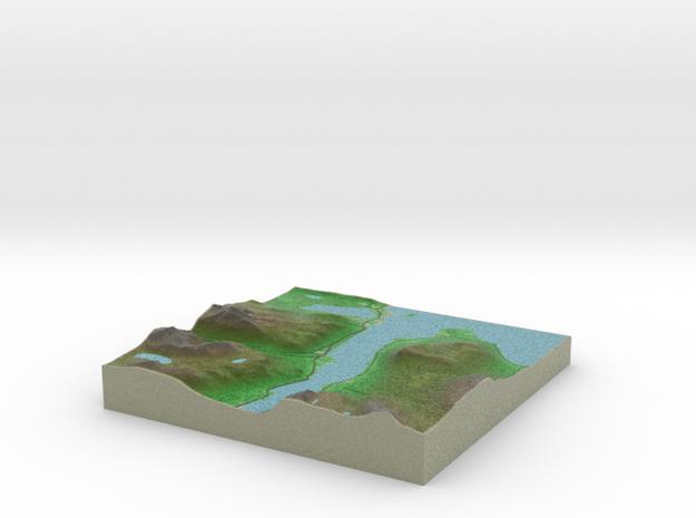 Terrafab generated model Fri Jan 09 2015 13:40:36  in Full Color Sandstone