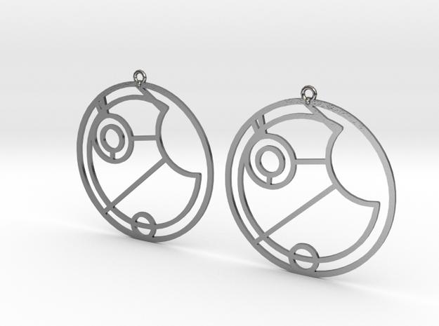 Esme - Earrings - Series 1 in Polished Silver