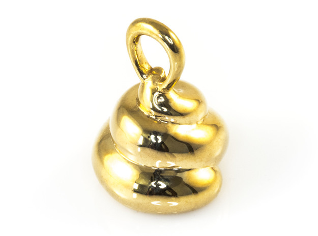 Lucky Golden Poo Pendant in 18K Gold Plated