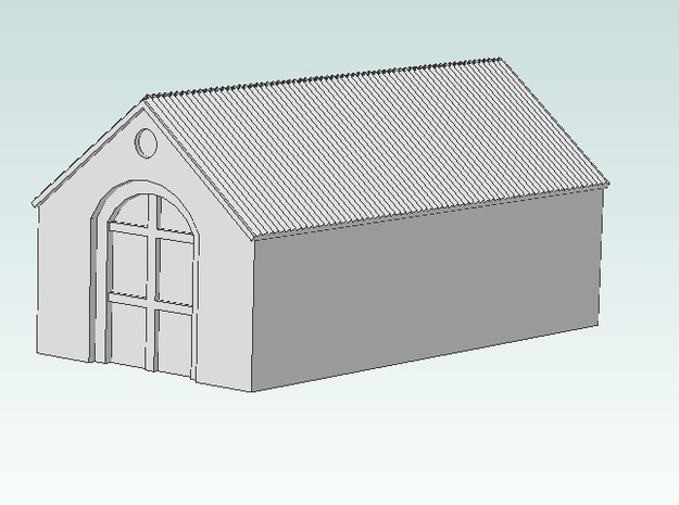 Barn (Black Detail) 3d printed