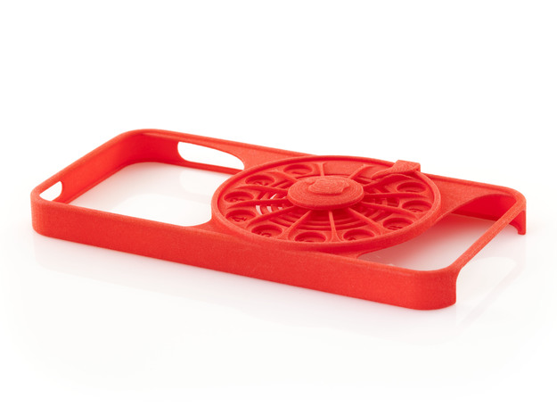 Rotary Phone Case for iPhone 5 / 5s in Red Processed Versatile Plastic