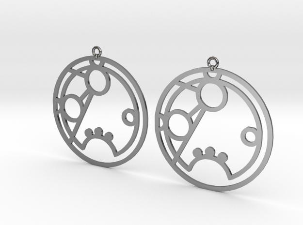 Romana - Earrings - Series 1 in Fine Detail Polished Silver