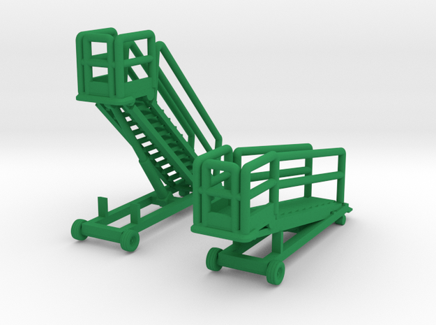 1/144 B1 Maintenance Stand (2x) Finished in Green Processed Versatile Plastic