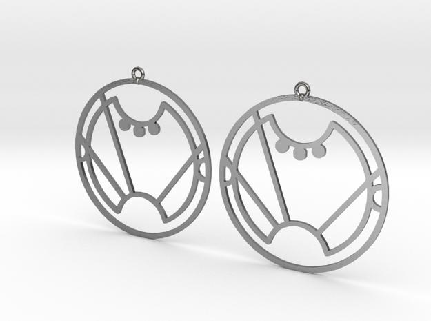 Sara - Earrings - Series 1 in Polished Silver