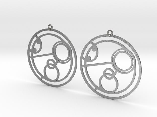 Poppy - Earrings - Series 1 in Raw Silver