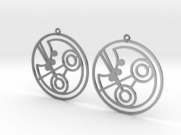 Piper - Earrings - Series 1 in Fine Detail Polished Silver