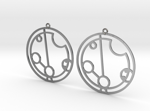 Payton - Earrings - Series 1 in Polished Silver