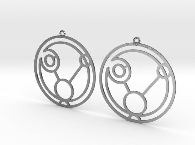Paige - Earrings - Series 1 in Polished Silver