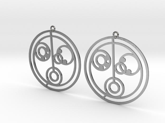 Nicole - Earrings - Series 1 in Polished Silver