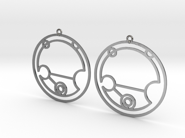 Nevaeh - Earrings - Series 1 in Polished Silver