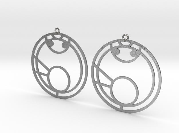Mya - Earrings - Series 1 in Natural Silver