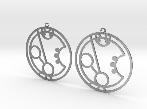Maryam - Earrings - Series 1 in Raw Silver