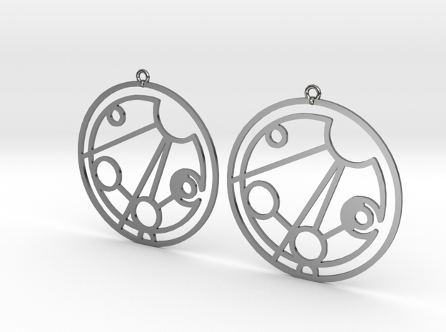 Madison - Earrings - Series 1 in Fine Detail Polished Silver